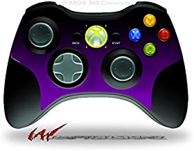 Smooth Fades Purple Black - Decal Style Skin fits Microsoft XBOX 360 Wireless Controller (CONTROLLER NOT INCLUDED)