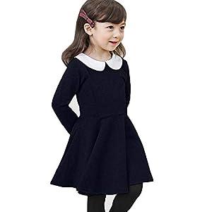 (キトハウス) KITOHOUSE ニューモダンスタイル ワンピース フォーマル 女の子 キッズ (120cm, ネイビー)