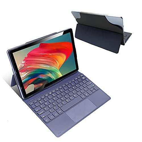 Tablet 10 Pollici 8 Core - Android 10 Tablet 4G LTE, 4 GB di RAM e 64 GB, 1080p full hd Tablets con tastiera, Doppia SIM,WiFi, Bluetooth, Custodia per Tablet e Altro Incluso - Silver