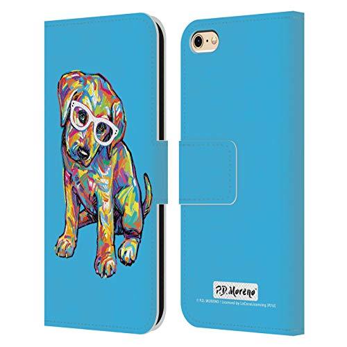 Head Case Designs Licenza Ufficiale P.D. Moreno Labrador Giallo Cani Cover in Pelle a Portafoglio Compatibile con Apple iPhone 6 / iPhone 6s