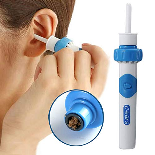 Ear Vacuum Wax Remover, Ear Wax Removal Kit, Ear Wax Vacuum for People of All Ages, Ear Vacuum Cleaner Easy Earwax Remover Soft Prevent Ear-Pick Clean Tools Set