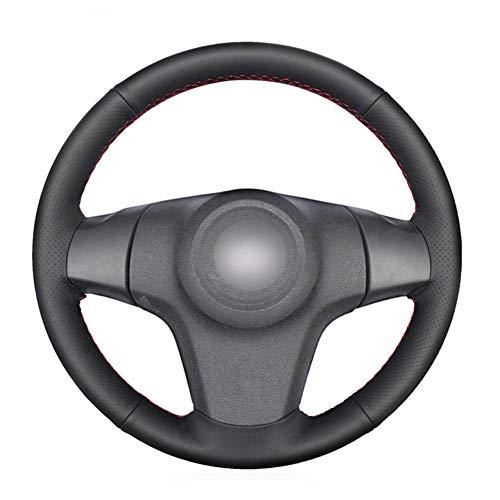 MioeDI Cubierta de Cuero Negro para Volante de Coche, para Chevrolet Niva 2009-2017 de 3 Rayos Vauxhall Corsa D Opel Corsa D
