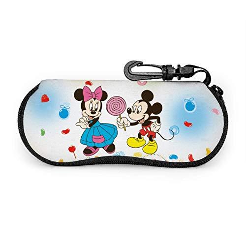 GERERIC Estuche Para Las Gafas,Anime Mic-Key Mouse Funda Portátil Caja Para Gafas De Sol,Estuche Plegable De Gafas,Funda De Neopreno Con Cremallera