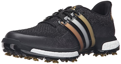 adidas Herren Tour360 Prime Boost Golfschuh, Schwarz - Core Black/Gold Metallic/Core Black -...