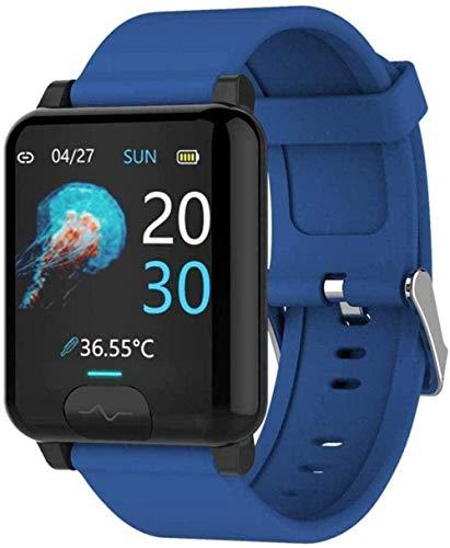 Reloj inteligente para hombres y mujeres E04S temperatura corporal ECG+PPG Monitor de presión arterial Ip68 impermeable Sport Smartwatch compatible Iso 8.0+ Android 4.4+ Exqui-A-C-C
