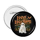 Feliz Halloween 2021 insignia redonda, accesorios de sombrero del bolso de la ropa del botón del Pin 1.8 pulgadas en diámetro