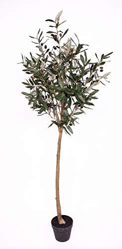Olivenkugelbaum 150cm im Topf ZF Kunstbaum Kunstpflanzen künstlicher Baum Olivenbaum Dekobaum