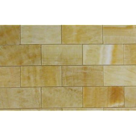 Honey Onyx Subway 3x6 Marble Tile Premium Polished