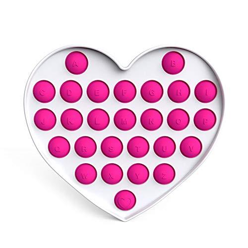 ANDD Silicona Forma De Corazón Empuje Burbuja Sensorial Fidget Juguetes Autismo Aliviador De Estrés