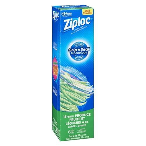 Ziploc Fresh Produce Bags Large - 15 Count