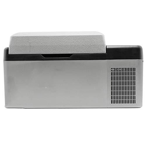Tinbg Draagbare koelkast, elektrisch aangedreven mini-koelkast met vriesvak, voor gebruik buitenshuis en thuisgebruik