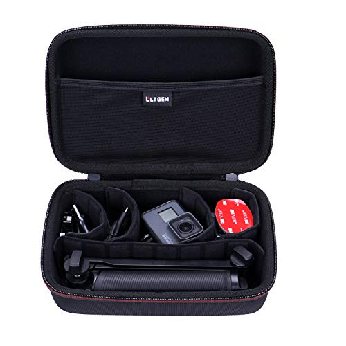 LTGEM Hard Carrying Case for GoPro Hero 7/6/ 5/ Hero (2018) or GoPro MAX Waterproof Digital Action Camera, with 4 Moveable Dividers