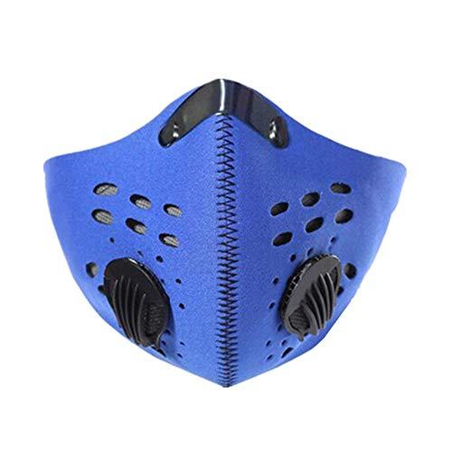 mascarillas anticontaminacion Mascara Bicicleta contaminacion Máscara Anti contaminación Ciclismo Máscara Facial anticontaminación para Bicicleta Blue,Freesize