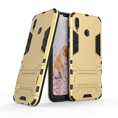 COOVY® Custodia per Huawei Honor Play Doppio Strato in plastica e Silicone TPU, Extra Resistente, Protezione Anti Colpi, Basamento   Colore Oro