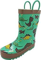 3. NORTY Waterproof Rubber Kid's Dinosaur Rain Boots