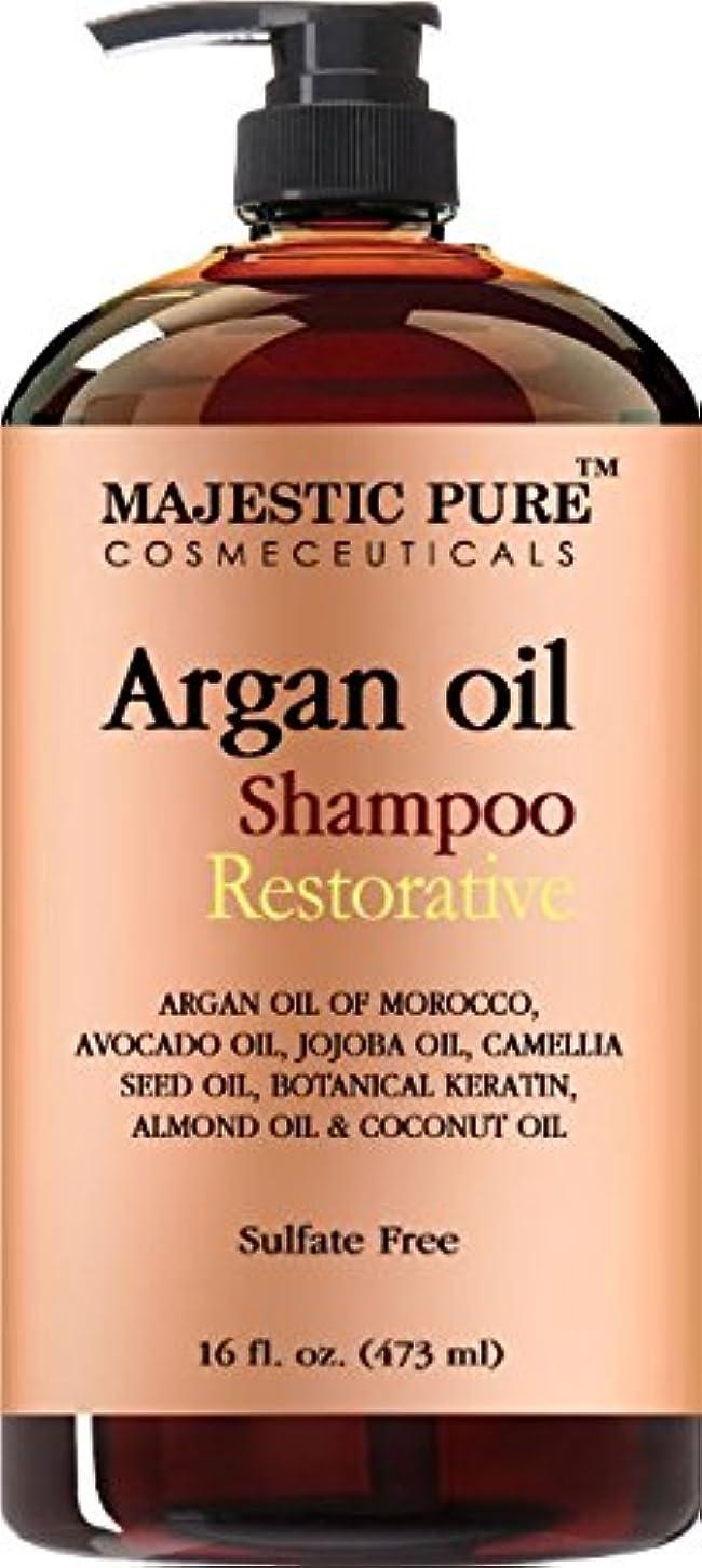 なぜならデコレーション等価Argan Oil Shampoo from Majestic Pure Offers Vitamin Enriched Gentle Hair Restoration Formula for Daily Use, Sulfate Free, Moroccan Oil & Potent Natural Ingredients, for Men... [並行輸入品]