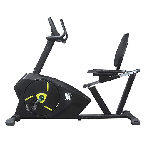 Fit4home Fitness Exercise Recumbent Bike For Home Use | Indoor Cardio Trainer Sporting Equipment With LCD Display, Pulse Sensors, 5kg Flywheel, Adjustable Seat | KPR61903 Black