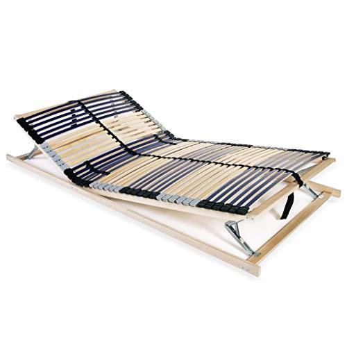 Tidyard Lattenbodem Vervanging van Bedlatten Voor Eenpersoonsbed or Tweepersoonsbed met 42 Latten 7 Zones 100x200 cm