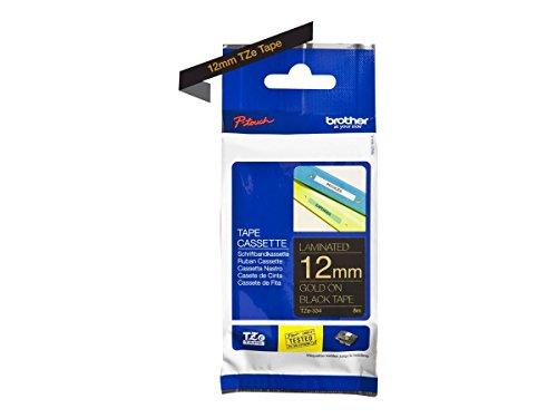 Preisvergleich Produktbild Brother Original P-touch Schriftband TZe-334 12 mm,  gold auf schwarz (kompatibel u.a. mit Brother P-touch PT-H100LB / R,  -H105,  -E100 / VP,  -D200 / BW / VP,  -D210 / VP)