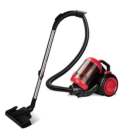 wolketon Staubsauger Beutellos für Hart- und Teppichböden, Bodenstaubsauger Leise, äußerst effizienter HEPA-Filter, Niedriger Stromverbrauch 3.0L Rot