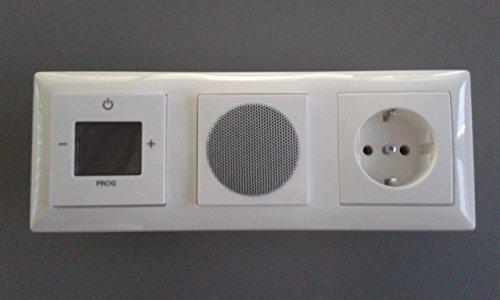 TM: Busch Jäger UP Digitalradio - Komplett-Set BALANCE SI mit Steckdose 3-Fach, 1xRadio, 1xLautsprecher, 1xSteckdose