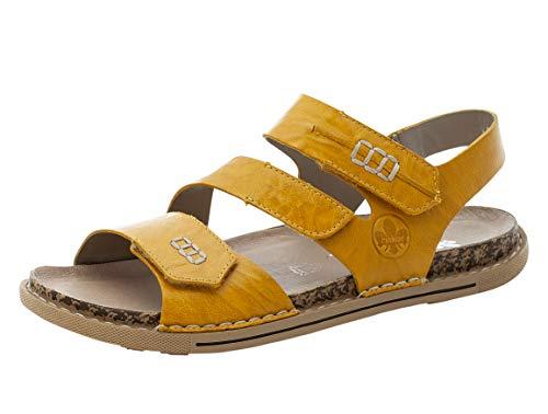 Rieker Damen V5470 Sandale, Gelb, 43 EU