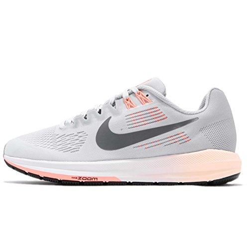 Nike Women's Air Zoom Structure 21 Running Shoe Wolf Grey/Dark Grey-Pure Platinum 11.0