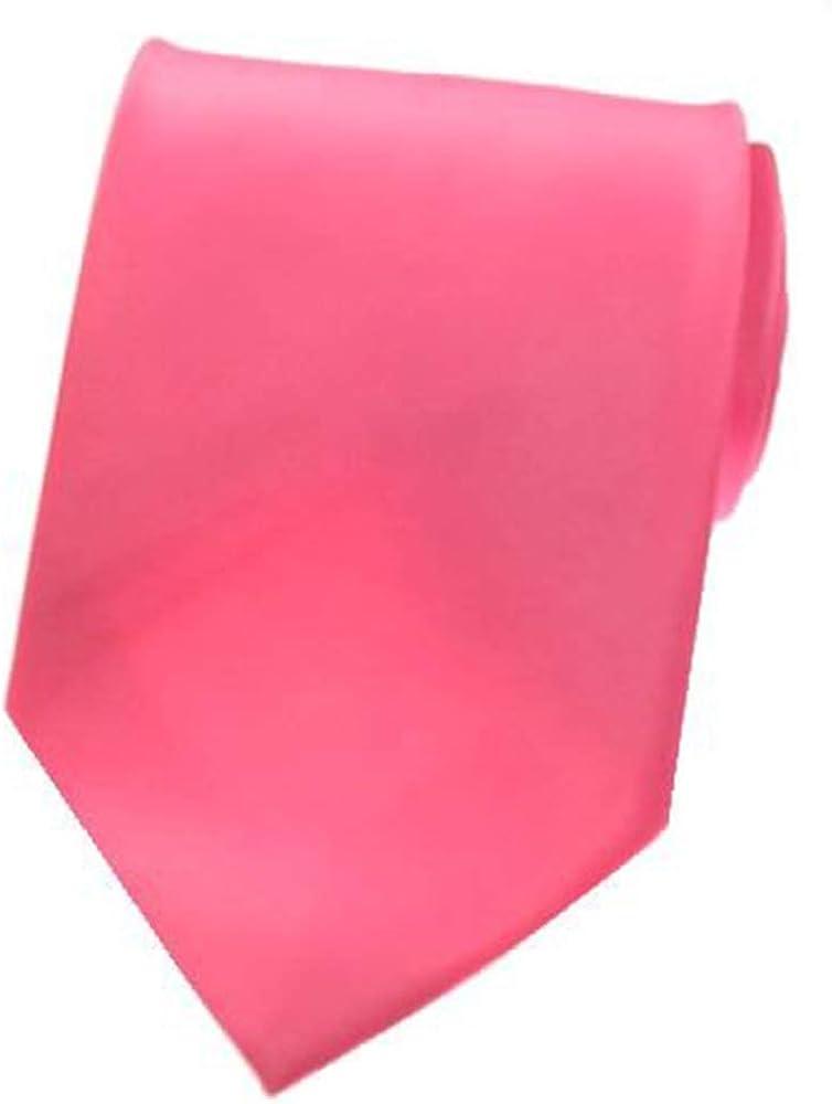 SOLID HOT PINK SATIN Mens Necktie Neck Tie