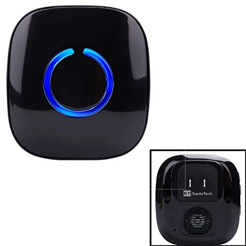 CROSSPOINT Extra Add-On Battery Free Plugin Receiver for the CROSSPOINT Expandable Wireless Doorbell Alert System, Model ER, Black