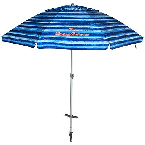 Tommy Bahama Beach Umbrella with Tilting Pole and Carrying Case