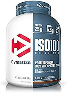 Dymatize Nutrition Iso 100% Whey Protein Isolate Powder Gourmet Chocolate, 5 Lbs.