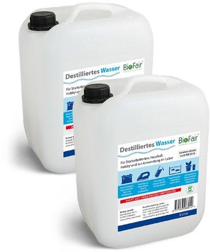 BioFair Paquete Ahorro: Agua Destilada 2 Bidón à 5 litros - Envío Libre