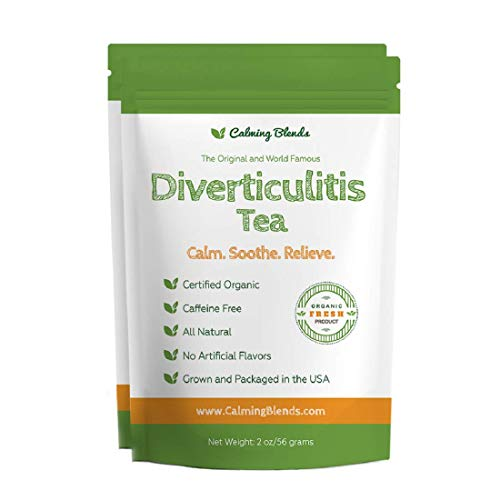 Calming Blends Diverticulitis and Diverticulosis Tea | Certified Organic, Caffeine Free, Supports Digestive Health | 2 Pack