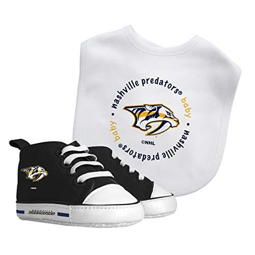 Baby Fanatic Nhl Legacy Infant Gift Set, Nashville Predators Alternate, 2Piece Set (Bib & PRE-Walkers)