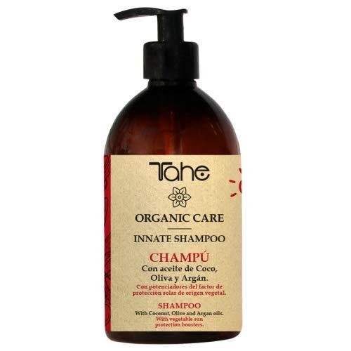 Tahe Champú Innate Organic Care Solar Cabello más Brillante y Ligero con Aceite de Coco, Oliva y Argán sin Siliconas ni Sulfatos, 300 ml