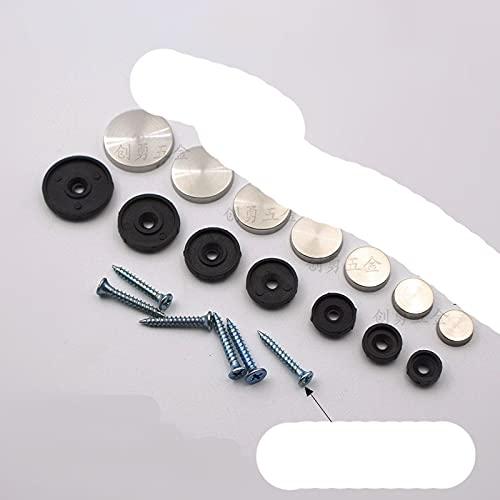 100 unids/lote 12 mm de diámetro cubierta de tapa de acero inoxidable tornillos decorativos para espejo pantalla espejo-25 mm