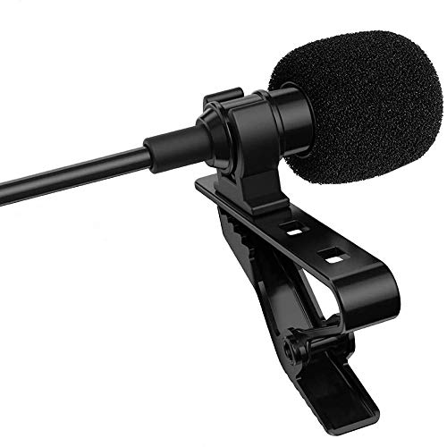 microphone with hands LENSGO Lavalier Lapel Microphone, Professional Hands Free Clip-On Omnidirectional Lapel Mic for 328C Wireless Lavalier Microphone System