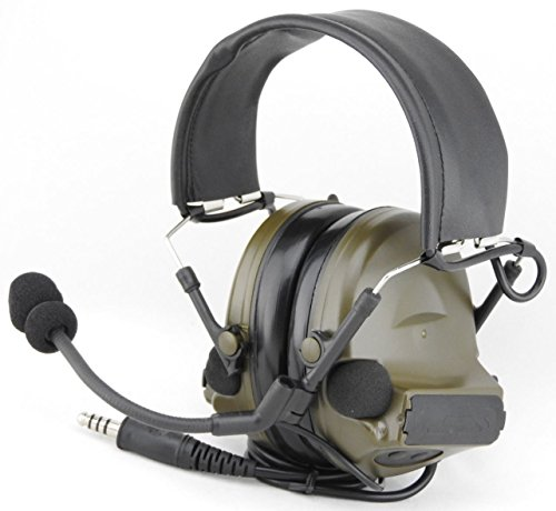 TOMTAC Airsoft COMTAC II 2 Headset MIC Boom Radio PELTOR Design OD Green