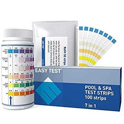 Amazon - Save 50%: EASYTEST 7 Way Pool, SPA & Hot Tub Test Strips Accurate and Fast Testing…