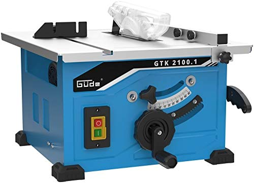 GÜDE GTK 2100.1 Tischkreissäge | Holzsäge | 210 mm HM-Sägeblatt | 1200 Watt Leistung | 45 mm Schnitthöhe | Höhenverstellbar