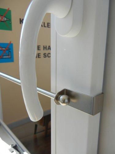 Spannfix , Klemmfix , Gardinenstange , Spannvitrage Farbe edelstahl mit Endstück Kugel, Spannbreite 40cm - 60 cm
