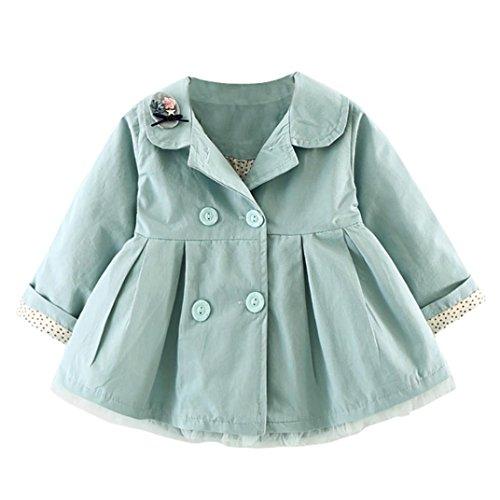 Huhu833 Baby-Kapuzen Mantel,Kinder Baby Mädchen Herbst Winter mit Kapuze Mantel Mantel Jacke Starke warme Kleidung (80CM, Grün)
