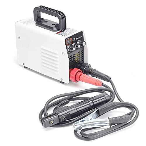 Soldadora eléctrica de arco inversor portátil 220V, 20-400A IP21S Pantalla digital Soldador de arranque en caliente IGBT/MMA/ARC para trabajar