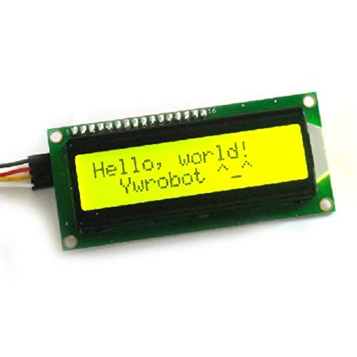BiaBai LCD1602 + I2C LCD 1602-Modul Grüner Bildschirm PCF8574 IIC / I2C LCD1602-Adapterplattenplatinenmodul