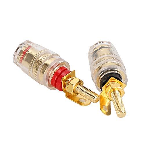 Conector de Audio, Conector Banana Macho de Tuerca, para Amplificador Comercial