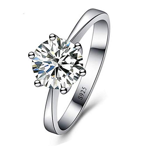 925 Sterling Silver size 10 Cubic Zirconia Ring Eternity Promise Engagement Wedding Rings