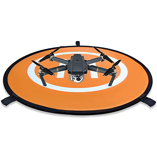 KINBON Drone Landing Pads, Waterproof 30'' Universal Landing Pad Fast-fold Double Sided Quadcopter Landing Pads for RC Drones Helicopter DJI Spark Mavic Pro Phantom 2/3/4 Pro Inspire 2/1 3DR Solo