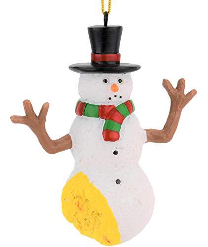 Tree Buddees Funny Pee on Snowman Christmas Ornament