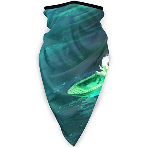 Qulia Halstuch, Kopfbedeckung, leicht, Feuchtigkeitstransport, UV-Schutz, Schal, Sturmhaube, Stirnband für Männer und Frauen – Soul Ruderboot in Meeresschwarz
