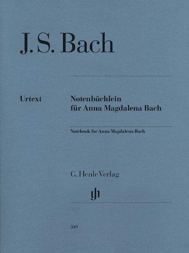 Petit Livre Danna Magdalena Bach 1725 Piano